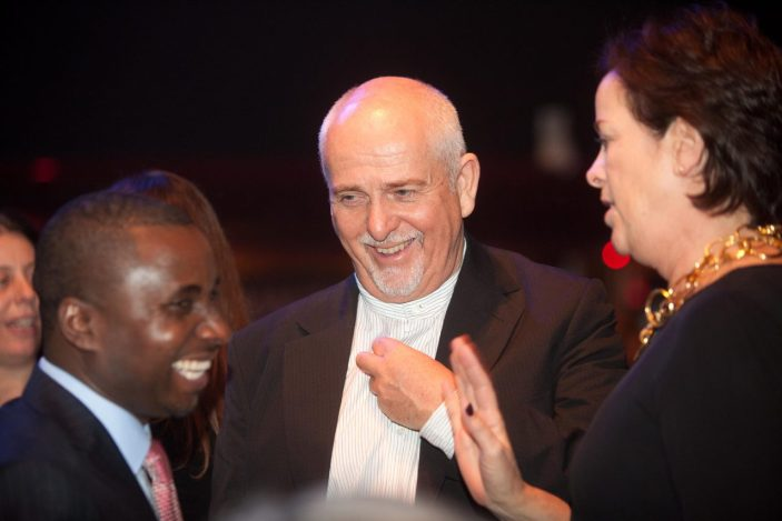 Bukeni Waruzi, Peter Gabriel and Brown Johnson