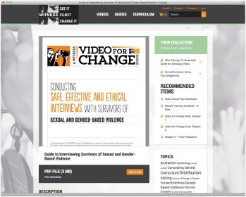 WITNESS Library: GBV Guide