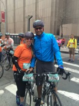 Harvey Anderson and Delle Dixon-Thayer traveled from California to join us on race day.