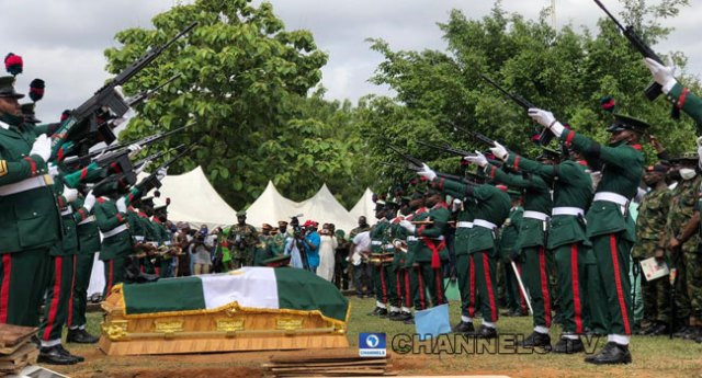 COAS Attahiru, 10 other military personnel, laid to rest in Abuja (PHOTOS)