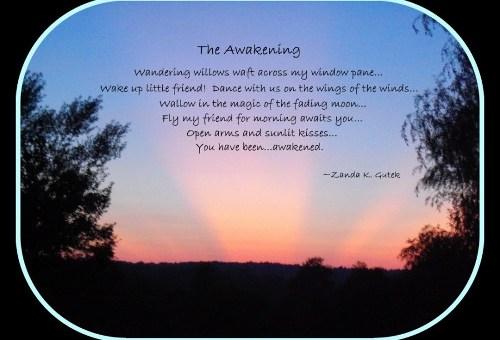 The Awakening poem by Sonny Carrol