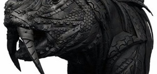Rubber Tyre Art - Sabre Tooth Tyre