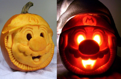 Mario Pumpkin Carving (image www.aldovega.com). Amazing Halloween Pumpkin Carvings