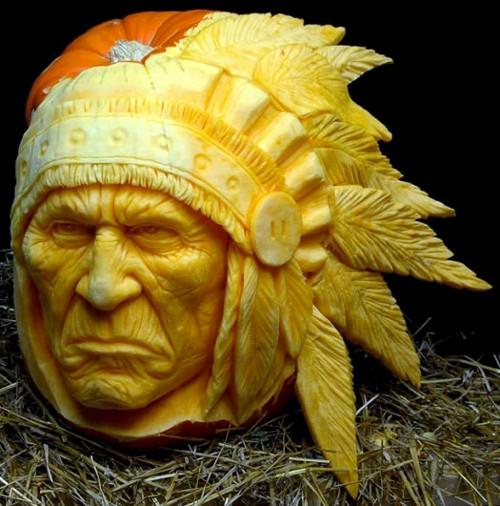 Native American Pumpkin Carving (image www.livbit.com). Amazing Halloween Pumpkin Carvings