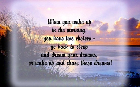 Inspirational Quotations for Life - Wake Up