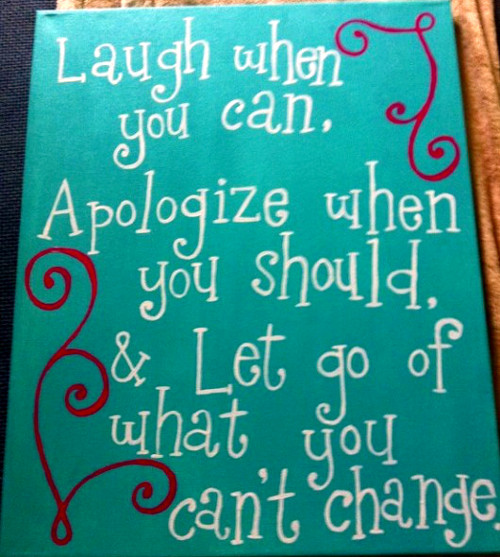 Inspirational Quotations Laugh and Let Go