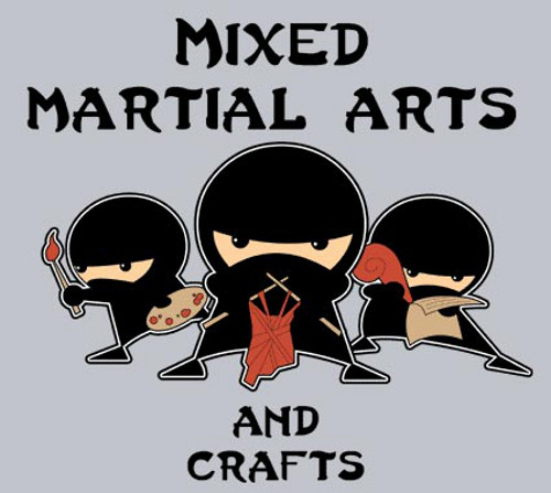 Mixed Martial Arts & Crafts T-Shirt Design