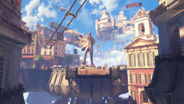 Gamification: Bioshock Infinite: A popular steampunk game set in the late 1800s ... in the skies! (image: pcgamer.com)