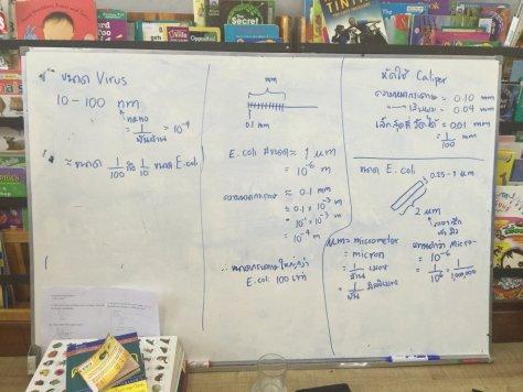 กระดานที่เราเรียนกันครับ ต้องอ่านจากขวาไปซ้ายเพราะเริ่มเขียนจากทางซ้ายครับ