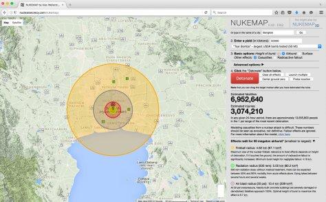 ความเสียหายจากระเบิดนิวเคลียร์ใหญ่ที่สุดที่เคยทดสอบชื่อ Tsar Bomba เหนือกรุงเทพ