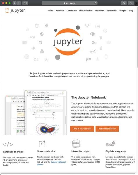 หน้าตาเว็บ Jupyter ครับ