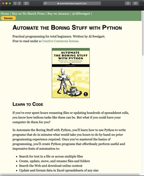 หนังสือ Automate the Boring Stuff with Python ครับ