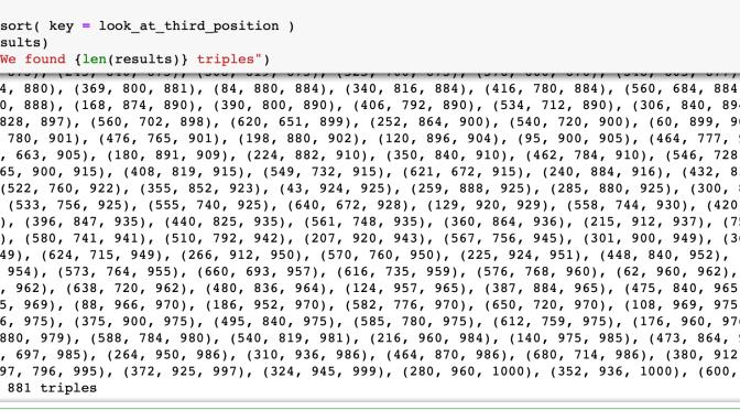 วิทย์ม.ต้น: เขียนโปรแกรม Python หาด้านสามเหลี่ยมมุมฉากที่เป็นจำนวนเต็ม (เช่น 3-4-5), หัดใช้ range()