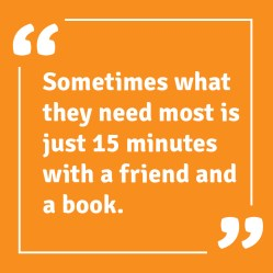 15 minutes with a book