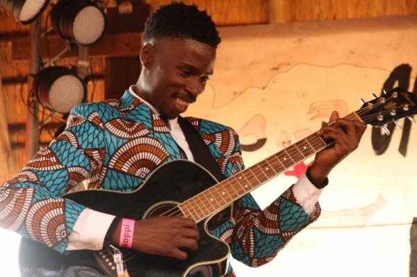 FIRST OPPI: Bongeziwe Mabandla plays his first set at the festival. Photo: Pheladi Sethusa