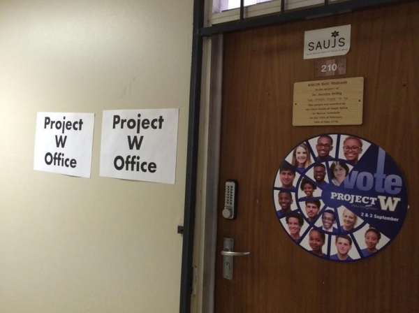 Project W and SAUJS shared an office during the election campaign period. Photo: Provided