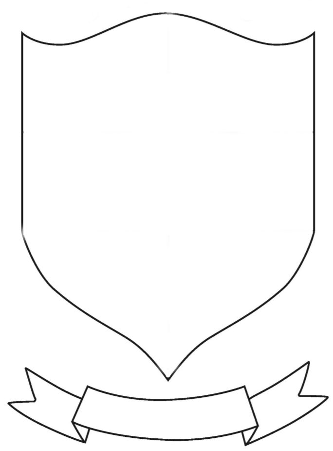 Printable Outline Coat Arms Shield