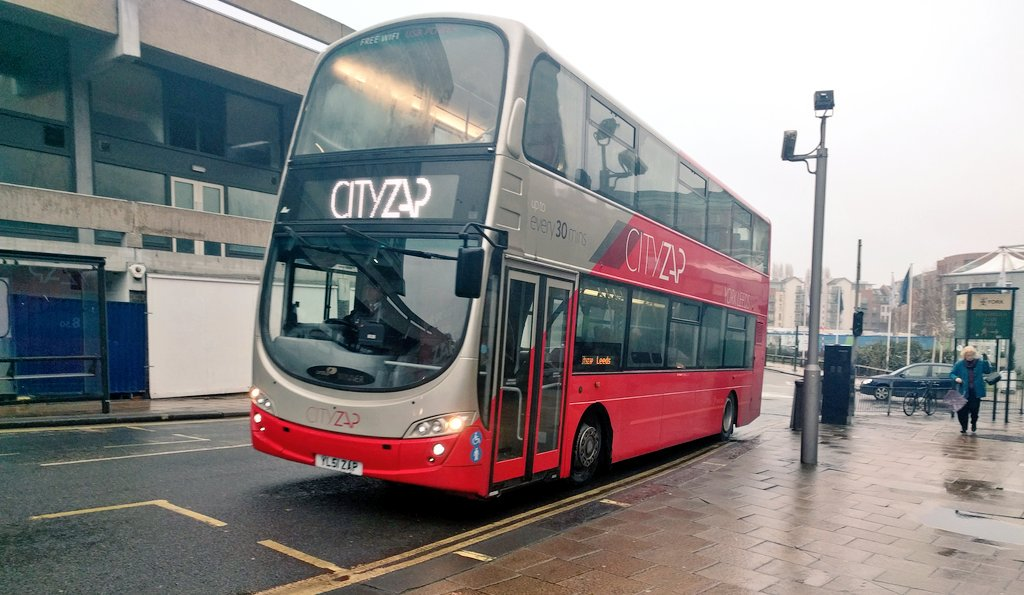 A refurbished Gemini serving York's Stonebow on the #CITYZAP