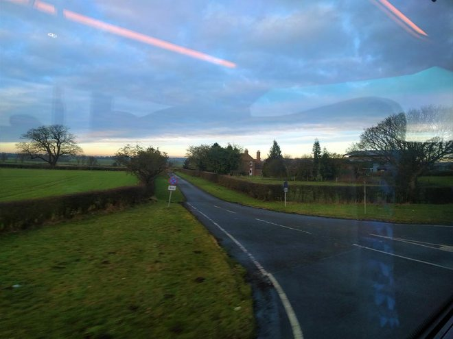 Country lanes in Coastliner Country