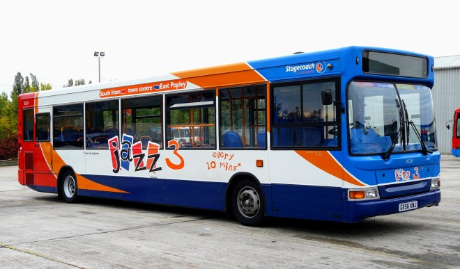 An example of the old 'Jazz' route branding used in Basingstoke