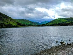 A lakeside view of Ullswater