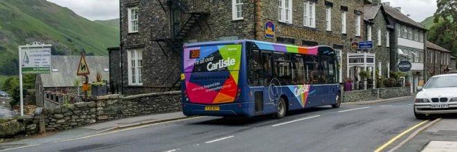 A Carlisle branded Optare Solo in Glenridding