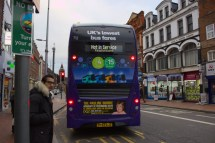 Purple 17 - Not in Service - Pulling off stand in Friar Street