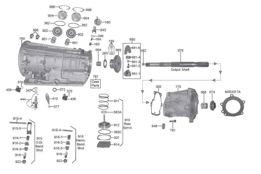 Ford F4eat Transmission Parts Diagram. Ford. Auto Wiring
