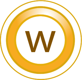 "The letter ""W"" in a circle"