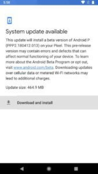 Installing Android P
