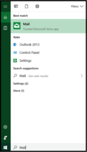 Custom Email Setup - Searching Mail App
