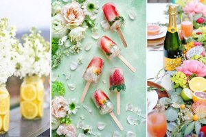 Summer wedding ideas | Indian weddings | fruit centrepieces | colourful ice lollies | flower popsicles
