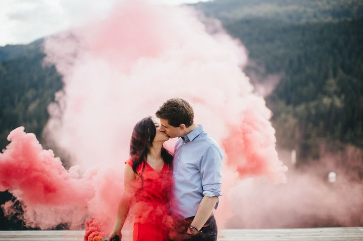 Smoke bombs witty vows