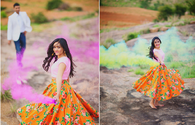 Smoke bombs - hot new trend for wedding shoots witty vows
