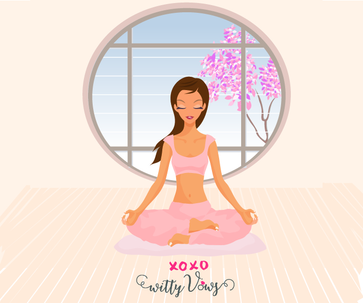 Yoga and meditation for Bridechilla - Witty Vows
