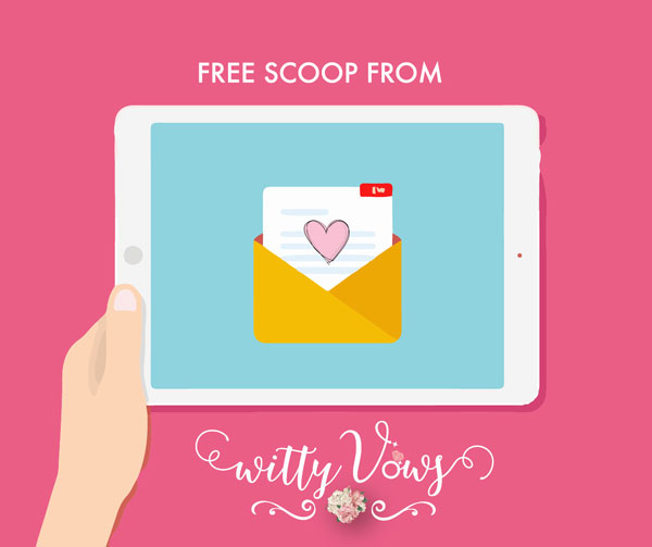 the witty vows newsletter - sign up for free updates