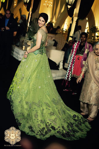 Trend Alert - Trains for the Indian Bride | Curated by Witty Vows | Go gorgeous with the gown train in green