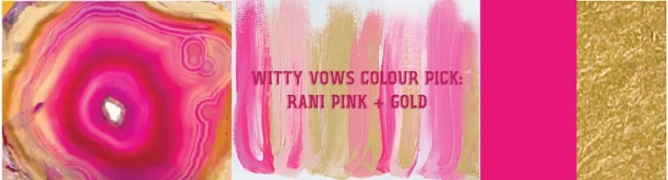 Wedding mood board to love - PINK and GOLD INDIAN Mehendi Theme curated by Witty Vows   Hot Pink fuchsia Rani Pink Pluss gold Colour Indian wedding Decor