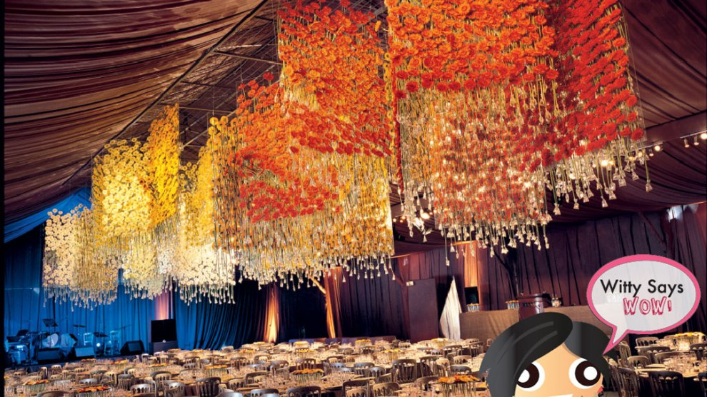 Stunning ceiling floral installation| Indian Weddings Ideas| BY DANIEL OST