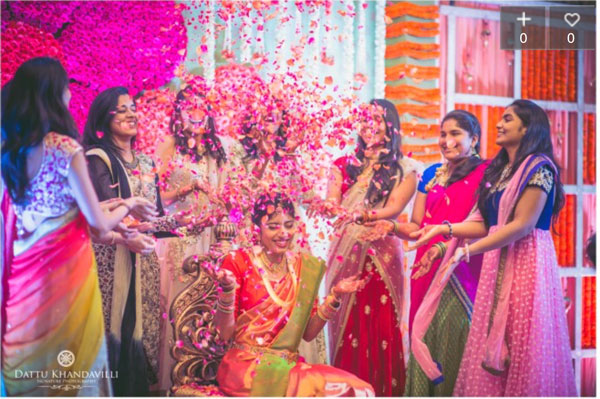 PICTURES THAT PROVE EVERY INDIAN BRIDE MUST GET A PICTURE WITH A FLOWER SHOWER | A bridal entry in style | Ceremonies are more animated | Photos with your best friends for the bride |Curated By Witty Vows