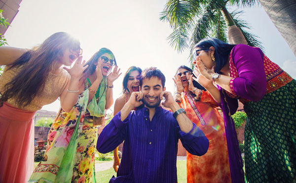 pictures every indian groom must have with his friends from the wedding | When your boss are girls | Curated by Witty Vows
