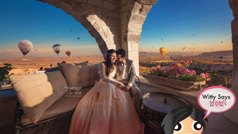 Witty Says WOW, Indian Weddings Ideas , Indian Couple, Pre Wedding Shoot, Hot Air Ballon, Candid Shot