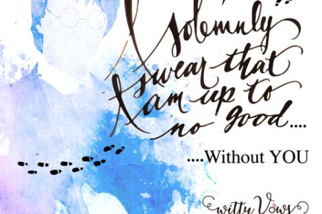 LOL! adorable quote on harry potter love| Curated by Witty Vows