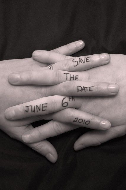 Save the date ideas for Indian weddings   Intertwined fingers, holding hands with dates written on the hands   Curated by Witty Vows