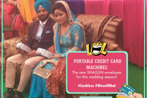 Cashless Economy| Funny quote| funny pictures| lol | punjabi couple| bride and groom| credit card