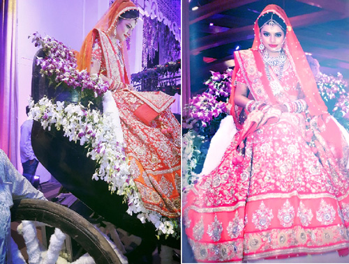 Bridal entry ideas - enter on a carriage - for the Indian bride | Curated by Witty Vows