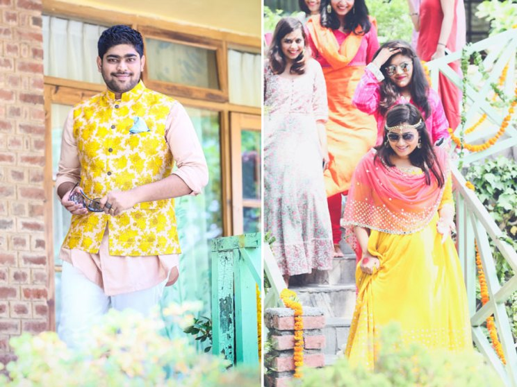 A stunning DIY Indian Wedding in the Hills | Budget Bride | Subhashree and Jonathan | Photo - Arjun's tryst with the camera| Bright hill station mehendi | Yellow and pink outfit for the wedding | Curated by Witty Vows