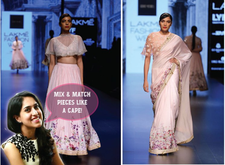 Bridal fashion tips for the trousseau for Indian weddings by fashion designer Ridhi Mehra | Designer Ridhi Mehra gives tips to Brides to Be| how to pair your clothes and mix and match indo western styles | Curated by Witty Vows