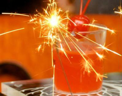 Cracker of a drink! sparklers for the drinks for your diwali party together at home | Curated by Witty Vows