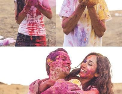 Save the Date photoshoot idea | Pre Wedding Shoot | Candid Photography | Holi Inspired | Pre Wedding Photographers | Delhi | Indian couple in love | Stunning locations in India | Wedding Photographer | Engagement Announcement